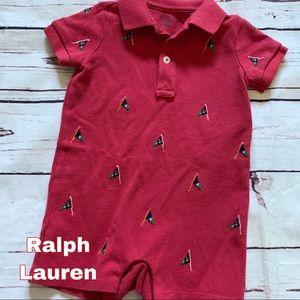 🧨 2/$10 Ralph Lauren 6M 6 month boy jumper outfit